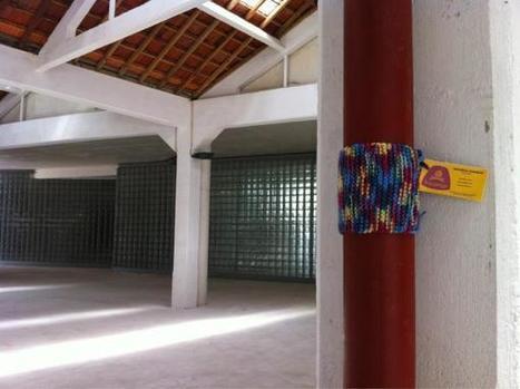 Yarn Bombing em Portugal o segundo episódio ! | Fils de pelote | Yarnbombing France | Scoop.it