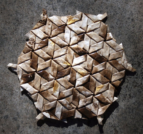 Pinto parallelograms - origami tessellation | Made with (and of) Paper | Scoop.it