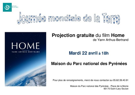 Projection de Home (Yann Arthus Bertrand) à la maison du Parc national des Pyrénées - Saint-Lary le 22 avril | Vallée d'Aure - Pyrénées | Scoop.it