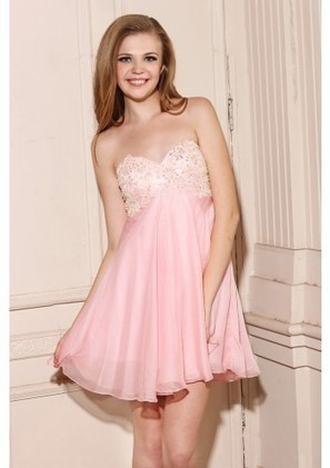 A Line Sweetheart Short Pink Chiffon Homecoming Dress Adoaa0043 - Homecoming Dresses - Special Occasion Dresses | mode | Scoop.it