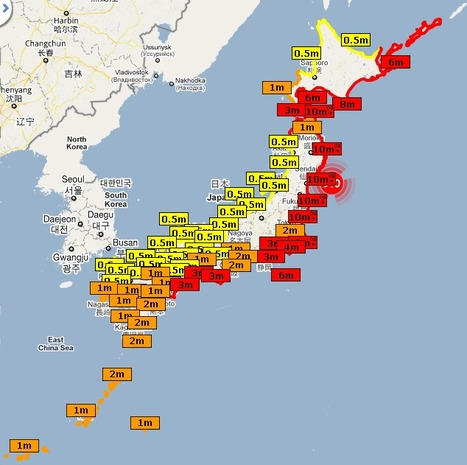 Carte hauteur des vagues | Japan Tsunami | Scoop.it