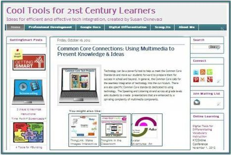 Cool Tools for 21st Century Learners Blog | Cool Tools for Common Core Connections | Scoop.it