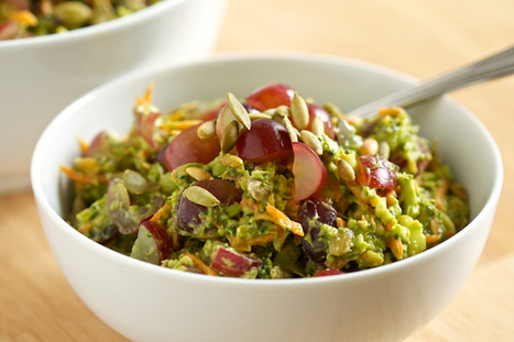 Healthy Broccoli Salad with Creamy Avocado  - Paleo | The Man With The Golden Tongs Goes All Out On Health | Scoop.it