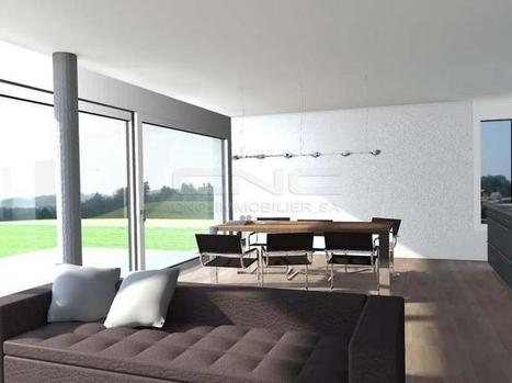 Immobilier à Fribourg • Harmonie d'un intérieur au rez aménagé à...   Immobilier Fribourg   Scoop.it