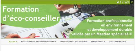 Un nouveau site internet dédié à la formation et au mastère spécialisé éco-conseiller   Le fil vert d'ECO-Conseil   Scoop.it