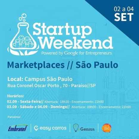 Startup Weekend MARKETPLACES São Paulo | Entrepreneurship, Startups and Social Business | Scoop.it