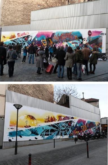 JCDecaux consacre une palissade de chantier de Paris au Street Art - 100% média | typographie, nouveaux médias | Scoop.it