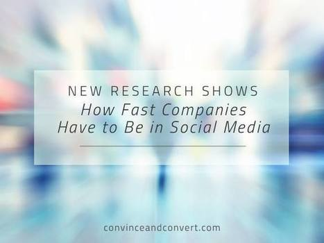 New Research Shows How Fast Companies Have to Be in Social Media | Social Media, SEO, Mobile, Digital Marketing | Scoop.it
