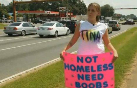 'NOT HOMELESS, NEED BOOBS': Woman Panhandles For Implants | BloodandButter | Scoop.it