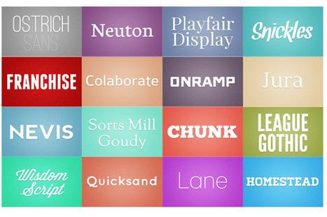 16 Fuentes Para Descargar « deSIGNALS | Recursos | Scoop.it