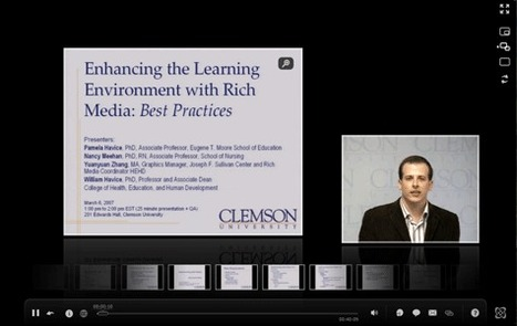 Enhancing the Learning Environment with Webcasting: Best Practices | REC:all | Scoop.it