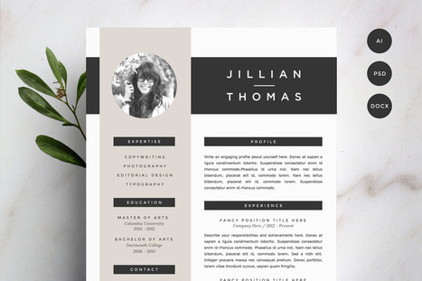 30 Sexy Resume Templates Guaranteed to Get You Hired | inspirationfeed.com | Public Relations & Social Media Insight | Scoop.it
