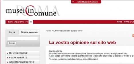 Il sito dei Musei in Comune di Roma all'esame degli utenti - cittadini di twitter | ROME, my city | Scoop.it