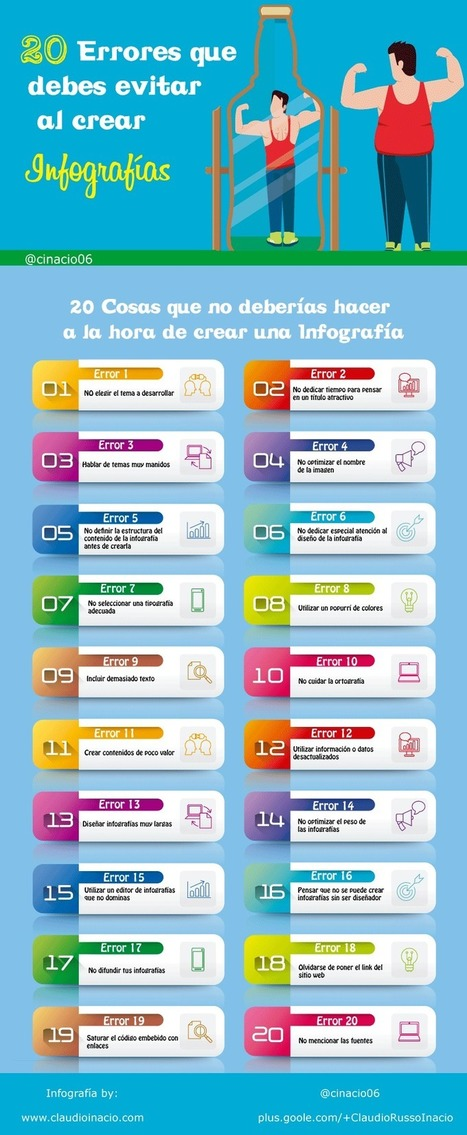 20 Errores a evitar cuándo creas tus infografías | TIC - Recull de consells i recursos | Scoop.it