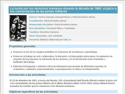 La lucha por los derechos humanos durante la década de 1980: el juicio a los comandantes de las juntas militares | TICs+Educación | Scoop.it