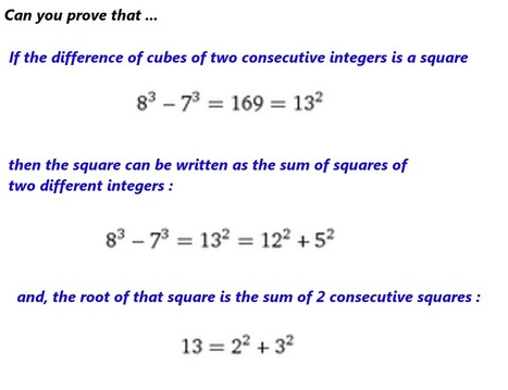 Difference of two consecutive cubes | Maths in English: Hirueleanitza proiektua | Scoop.it