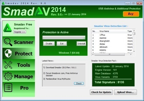 Smadav Pro 2015 v10.0 with Serial Key Crack Download | Hit Pc Softwares | Scoop.it