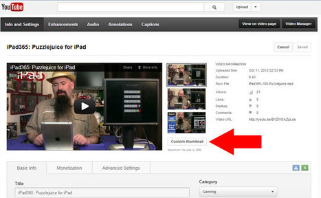 Add Your Own Thumbnail to YouTube Videos [How-To] | How To Record Podcasts | Social Media for Libraries | Scoop.it