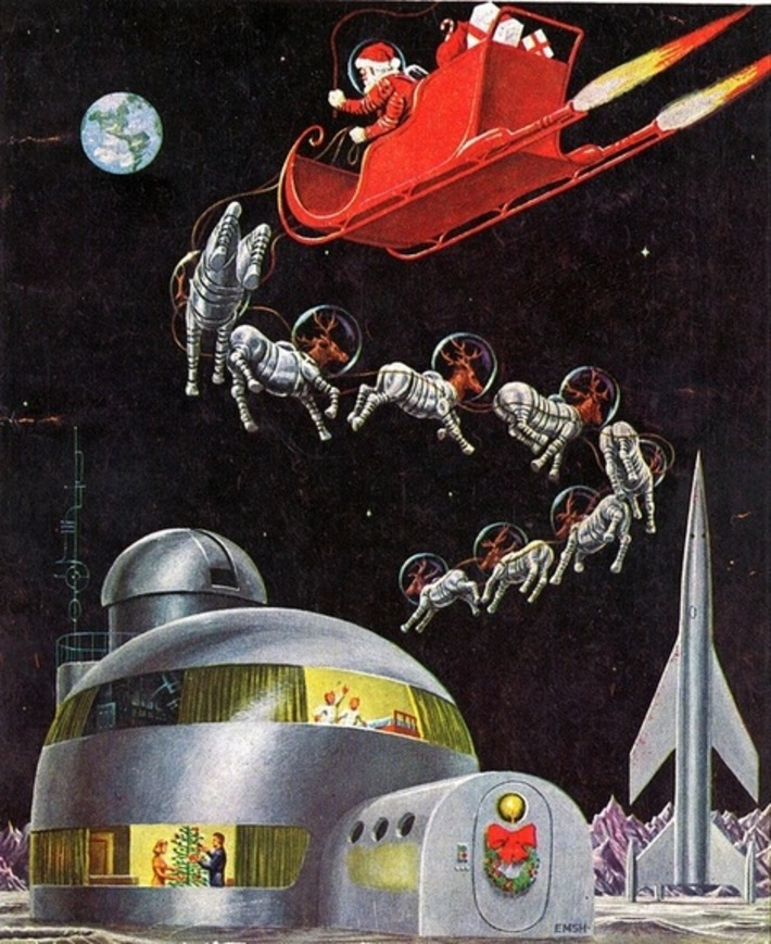 Mid-century mod, spaceage, x-mas illustration   Kitsch   Scoop.it