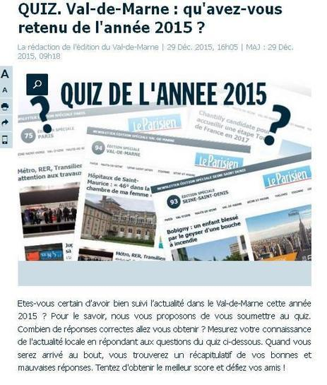 Quiz Val-de-Marne | Charentonneau | Scoop.it