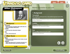 Trading Card Creator - ReadWriteThink | Technology for Language Learning | Scoop.it