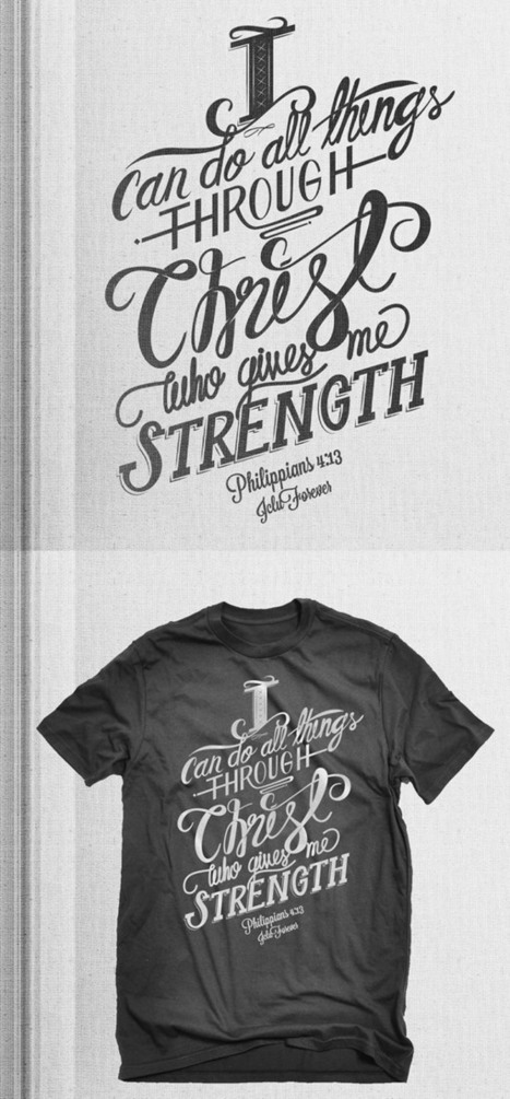 35 Beautiful Typographic T-Shirt Designs | inspirationfeed.com | Use of Typography as an element of design | Scoop.it