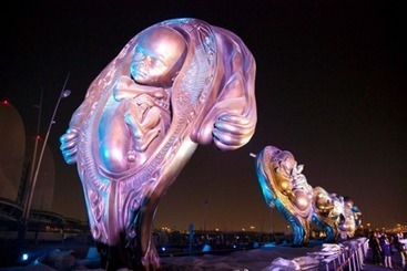 14 monumental sculptures of unborn babies by controversial British artist unveiled in Qatar | Arabian Peninsula | Scoop.it
