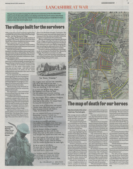 Lancashire Evening Post : Streets of mourning and Westfield Village at Campus in the City | Campus in the City | Scoop.it