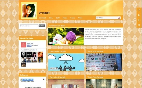 OrangeBT Blogger Theme v1 Free | Open w3 | Blogger themes | Scoop.it