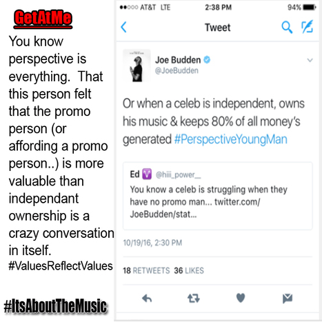 GetAtMe - Joe Budden educating a fan on perspective in the music business... #ItsAboutTheMusic | GetAtMe | Scoop.it