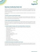 Business Continuity Check List | Businesscontinuity | Scoop.it