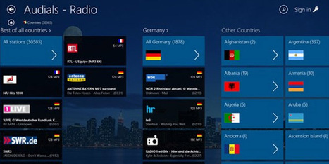 Audials Radio: Listen to Radios from all over the world with Windows 8 | scoop ! | Scoop.it