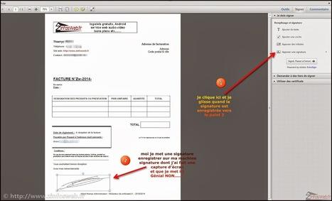 Mettre sa signature dans un document PDF [Tutoriel] | netnavig | Scoop.it
