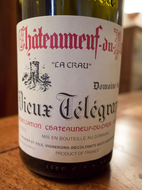 Domaine du Vieux Telegraphe, Chateauneuf-du-Pape: Current Releases | Wine website, Wine magazine...What's Hot Today on Wine Blogs? | Scoop.it