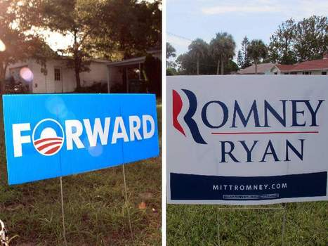 Romney leads by thousands over Obama in a battle of yard signs in the Daytona Beach area, but does a high-profile lawn campaign translate into votes?   Littlebytesnews Current Events   Scoop.it