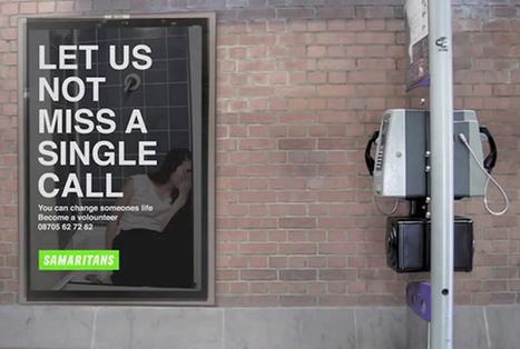 A Londres, une pub interactive vous téléphone pour vous sensibiliser sur le suicide ! | streetmarketing | Scoop.it