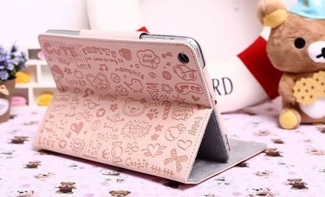 Light pink iPad mini case with bears and love hearts | Apple iPhone and iPad news | Scoop.it