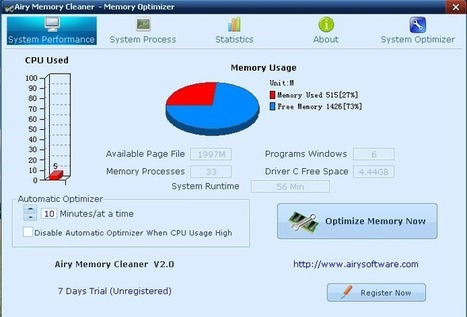 Free Airy Memory Cleaner (100% discount)! | Free and cheap Windows software | SharewareOnSale | memory cleaner | Scoop.it