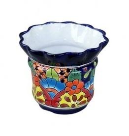Talavera Fancy Rim Flower Pot | Home Decor | Scoop.it