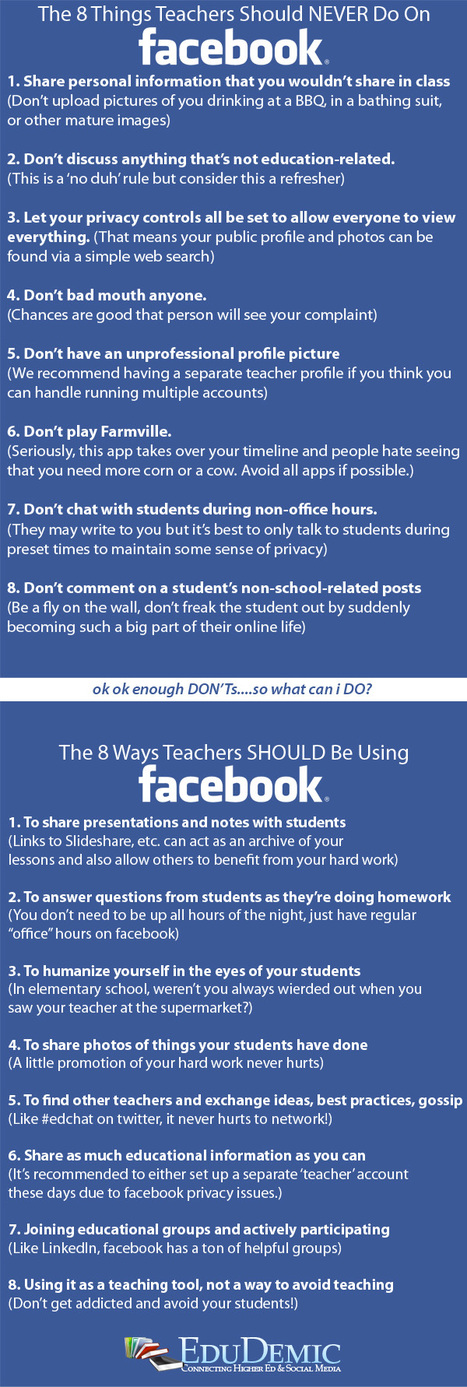 Every Teacher's Must-Have Guide To Facebook | Conciencia Colectiva | Scoop.it
