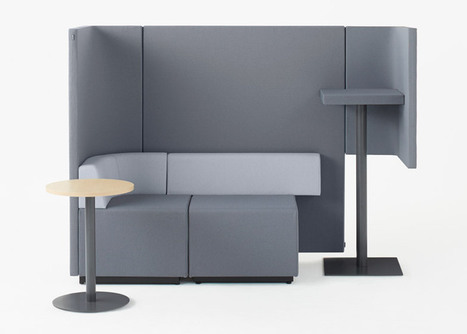 """Nendo's modular office tables create """"casual spaces for standing conversation"""" 