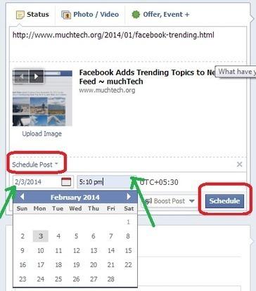 How to Schedule Facebook Posts ~ muchTech | MuchTech Daily Publication | Scoop.it