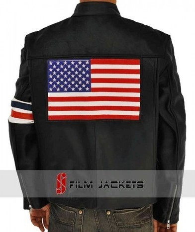 Captain America Easy Rider Jacket | Black Leather Peter Fonda Jacket | House of outfits | Scoop.it