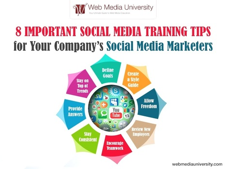 8 Important Social Media Training Tips for Your Company's Social Media Marketers | Social Media Training & Certifications | Scoop.it
