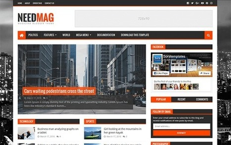 BTemplates: NeedMag Blogger Template | Blogger themes | Scoop.it