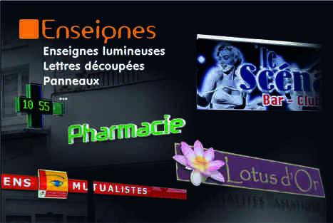 enseigne | atelier 3d publicité poitiers | Scoop.it