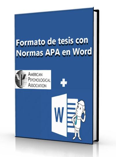 Formato de tesis con normas APA en word - DOC | LibreArchivo | Modelos Educativos | Scoop.it