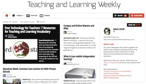 Oct 8 - Teaching and Learning Weekly is out | Studying Teaching and Learning | Scoop.it