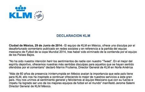 KLM ofrece una disculpa ante comentario publicado en redes sociales | Revista Merca2.0 | Marketing Socialmedia | Scoop.it