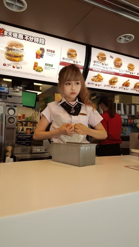 Men are flocking to a McDonald's in Taiwan to ogle a female employee | About marketing concepts | Scoop.it